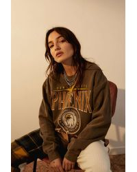 Urban Outfitters Uo Washed Phoenix Falcons Sweatshirt - Brown