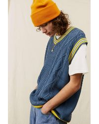 Urban Outfitters Uo Blue V-neck Sweater Vest