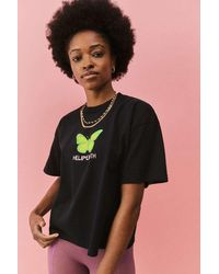 Obey Hell On Earth Cropped T-shirt - Black