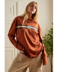 Kickers Rust Long Sleeve Logo T-shirt - Orange