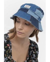 Urban Outfitters Uo Denim Patchwork Bucket Hat - Blue