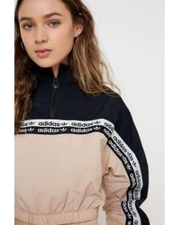 1d84736b2 adidas Originals - Taped Crop Crew Neck Sweatshirt - Womens Uk 8 - Lyst