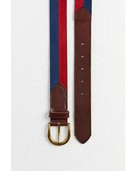 Urban Outfitters Colorblock Suede Belt - Blue