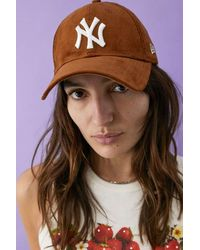 KTZ 9forty Ny Yankees Brown Corduroy Baseball Cap
