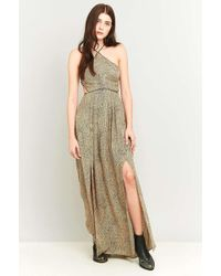 Silence + Noise Cecilia Strappy Y-neck Maxi Dress - Natural