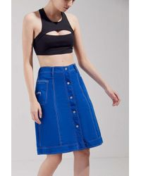 Stussy - Clyde Reversible Button-front Skirt - Lyst