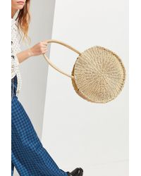 Urban Outfitters - Large Circle Straw Shoulder Bag - Lyst