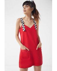 Lazy Oaf - Buckled Pinafore Dress - Lyst