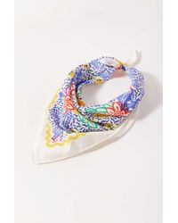 Urban Outfitters Uo Flecked Mini Silk Scarf - Blue