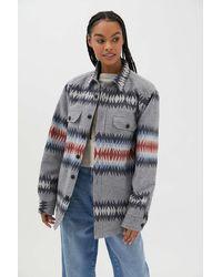Pendleton Jacquard Shirt Jacket - Grey