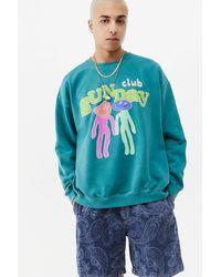 Urban Outfitters UO - Sweatshirt Sunday Club mit Schaumdruck - Grün