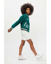 BDG Delia Corduroy Varsity Jacket - Green