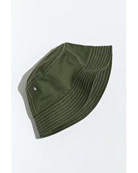 BDG Contrast Stitch Bucket Hat - Green