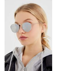 297e876d57 Urban Outfitters - Phoenix Metal Round Sunglasses - Lyst