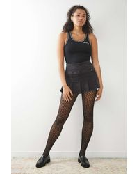 Urban Outfitters Mermaid Net Tights - Black