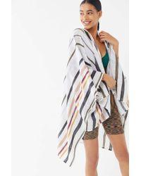 Urban Outfitters Uo Striped Linen Ruana - Multicolor