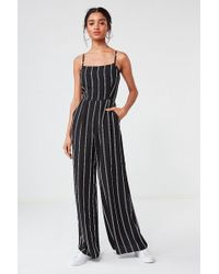Urban Outfitters - Uo Striped Wide-leg Jumpsuit - Lyst