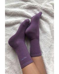 iets frans Purple Sports Crew Socks