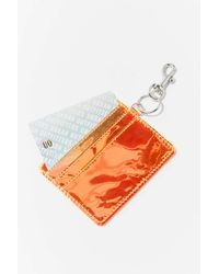 Urban Outfitters Iridescent Carabiner Card Case - Multicolor