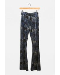 Urban Renewal Urban Outfitters Archive Blue Patchwork Flare Trousers