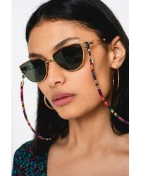 6b3a35bbe93 Urban Outfitters Le Specs Rapture Cat Eye Sunglasses in Brown - Lyst
