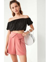 Urban Outfitters - Uo Blanche Foldover Short - Lyst