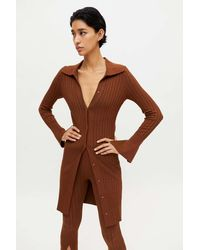 Urban Outfitters Uo Dion Longline Cardigan - Brown