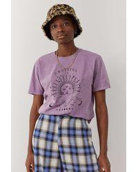 Urban Outfitters Uo Grateful Boyfriend T-shirt - Purple