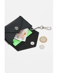 Urban Outfitters Uo Black Envelope & Clip Cardholer
