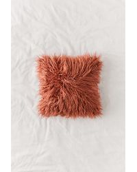 Urban Outfitters Mila Faux Fur Throw Pillow - Multicolor
