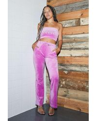 Juicy Couture - Uo Exclusive Rose Flared Track Pants - Lyst