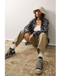 Urban Outfitters Uo Stitched Canvas Bucket Hat - Multicolour