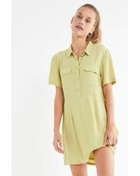 Urban Outfitters - Uo Lou Collared Mini Shirt Dress - Lyst