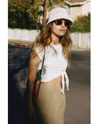 Urban Outfitters Uo Ella Woven Bucket Hat - Multicolour