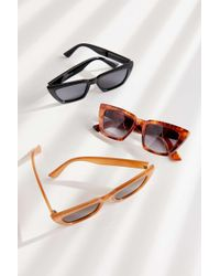 Urban Outfitters - Carson Chunky Rectangle Sunglasses - Lyst