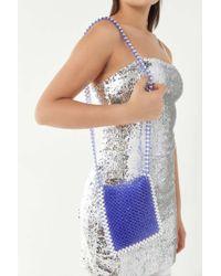 Urban Outfitters Jane Beaded Crossbody Bag - Blue