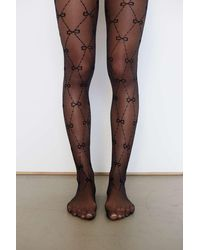 Urban Outfitters Infinity Heart Chain Tight - Black