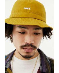 Obey Bold Jazz Bucket Hat - Orange