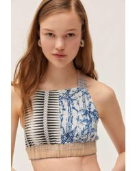 ad7deaa4508 Urban Outfitters - Uo Bondi High-neck Cross-back Cropped Top - Lyst