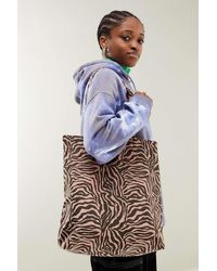Urban Outfitters Uo Corduroy Animal Print Tote Bag - Pink