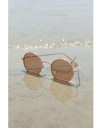 Urban Outfitters Rayanne Metal Round Sunglasses - Multicolor