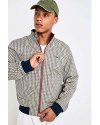 Lacoste L!ive - Checked Reversible Harrington Jacket - Lyst