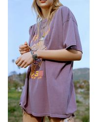Urban Outfitters Def Leppard 1983 Tour T-shirt Dress - Purple