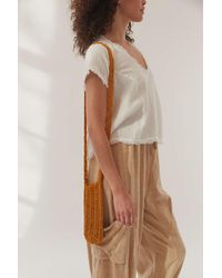 Urban Outfitters Eileen Woven Mini Crossbody Bag - Brown