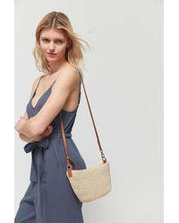 Urban Outfitters Uo Jessa Straw Crossbody Bag - Multicolor
