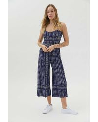 Urban Outfitters Uo Lola Tie-back Jumpsuit - Blue