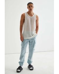 Standard Cloth Mesh Tank Top - Multicolour