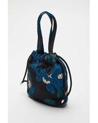 Hvisk Jacquard Pouch Handbag - Blue