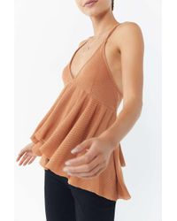Urban Outfitters - Uo Lola Thermal Babydoll Tank Top - Lyst