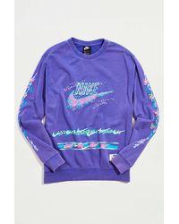 Nike Club Stories Crew Neck Sweatshirt - Purple